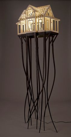 Architectural Lamp by Ted Lott