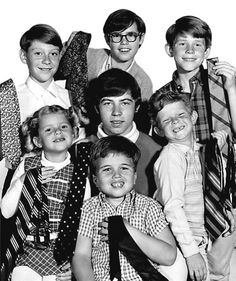 TV kids of the 1960's.  Is the little boy in the front row center from Flipper or Gentle Ben?