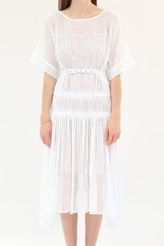 Rachel Comey Fauna Dress Bar Lace White