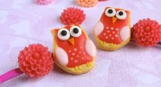 Owl Bobby Pins Sugar Cookie and Flower Hair Pins by mousemarket, $24.00