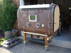 Sandblasting Cabinet Made From Old Fuel Oil Tank Great