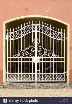 Old beautiful gates of wrought metal Stock Photo, Royalty Free Image: 48231455 - Alamy