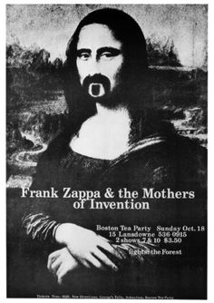 """""""Frank Zappa  the Mothers of Invention Boston Tea Party Poster"""""""