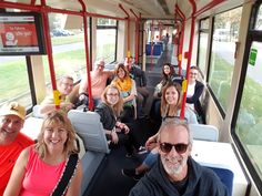 Nuremberg Tours in English with Happy Tour Customers taking the streetcar to the Justic Palace