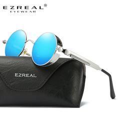 42fbadb67424 EZREAL New Fashion Brand Designer Polarized Sunglasses Women Reflective  Mirror Sun Glasses Metal Frame Sunglasses