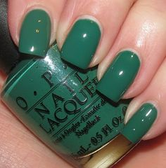 GETCHA NAILS DID: OPI - JADE IS THE NEW BLACK & LA PAZ-ITIVELY HOT MATTE
