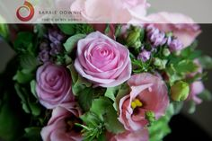 posy of roses and eustoma