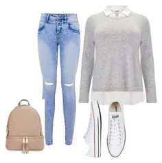 """""""Untitled #26"""" by djjazminmontiel on Polyvore featuring Studio 8, MICHAEL Michael Kors and Converse"""