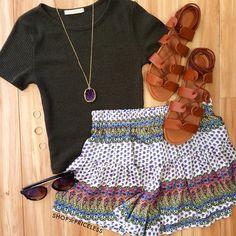 Misha Knit Crop Top - Olive