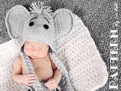 Cute crochet elephant hat