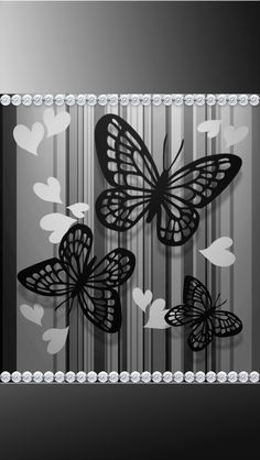 Black and silver within pearls Flowery Wallpaper, Abstract Iphone Wallpaper, Butterfly Wallpaper, Butterfly Art, Cool Wallpaper, Butterflies, Wallpaper Ideas, Daisy Background, Frame Background
