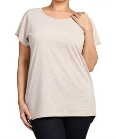 Look at this #zulilyfind! Lino Cross-Back Scoop Neck Top - Plus by Chris & Carol apparel #zulilyfinds