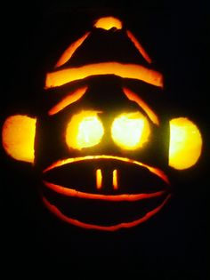 My sockmonkey pumpkin!!!