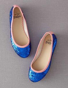 Glitter Ballet Flats - electric blue glitter - love!