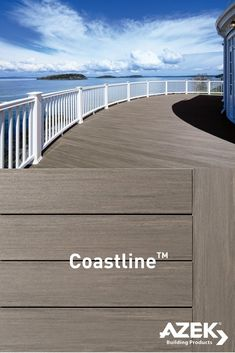 Part of the AZEK Vintage Collection, Coastline is a perfect match for your coast home! Mega Decks, Pool Decks, Deck Patterns, Gazebo On Deck, Patio Railing, House Landscape, Landscape Design, Deck Colors, Backyard Renovations