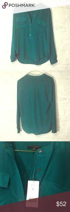 Banana Republic Silk Blouse Teal NWT This pretty blouse from Banana Republic is new with tags. Teal / deep turquoise color. Cost $98 plus sales tax. Banana Republic Tops Blouses