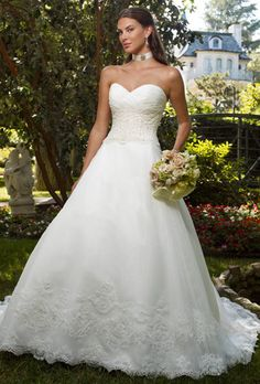 Casablanca Beaded Organza Ball Gown - Nearly Newlywed Wedding Dress Shop