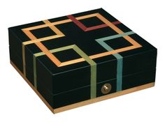 Ercolano Small Black Abstract Jewelry Box
