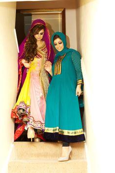 Engagement Party, pakistani Muslim January 2015 anarkali dress wedding