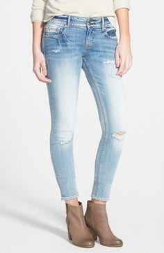Vigoss Distressed Skinny Jeans (Light Wash)