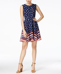 Maison Jules Watermelon-Print Fit & Flare Dress, Created for Macy's   macys.com