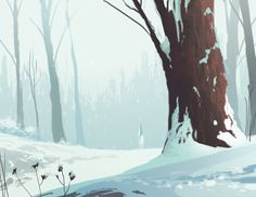 gawain and the green knight project: winter - matt crotts * artist & designer - gawain and the green knight project: winter – matt crotts * artist & designer Informationen zu gaw - Concept Art Landscape, Fantasy Landscape, Landscape Art, Animation Background, Art Background, Background Patterns, Illustrations, Illustration Art, Places