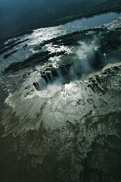 Brazil/Argentina - Iguazu Falls from a helicopter (late afternoon) photo by Agnieszka Bachfischer, 2008