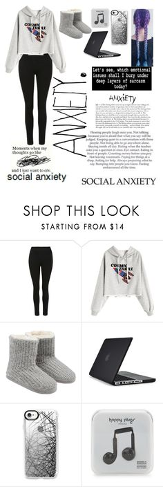 """""""Today's Mood"""" by xx-bearcub-xx ❤ liked on Polyvore featuring M&Co, Speck, Casetify and Happy Plugs"""