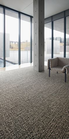 The handcrafted feel of World Woven carpet recalls vintage design for commercial flooring. Neutral carpet for lobby area/waiting room. Natural commercial floor design. Darker floors for offices.
