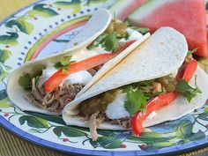 Tips:  *If  you need to prepare this recipe as GLUTEN FREE, just be sure to use a GF corn tortilla instead of flour.  *If you need to leave the slow cooker for longer than 6 hours, the pork will be just