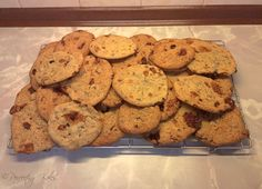 Honeycomb & Chocolate Chip Cookies on wire rack