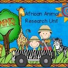 Safari African Animal Research Unit for Kindergarten  Please view the preview for a few more pictures. TpT was finicky about which pics it let me upload. :0)  *Larg...