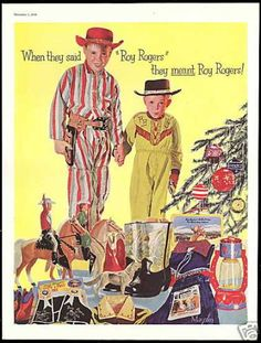 Roy Rogers Christmas cowboy boots   1956  (....in l956 I was in high school but Roy Rogers was my favorite cowboy and saw ALL his movies)