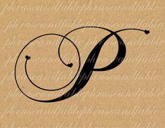 Lettera P Cuore 286 Digital Download Alfabeto iniziale Nome Glyph carattere font Tipografia clipart on Etsy, €1,54