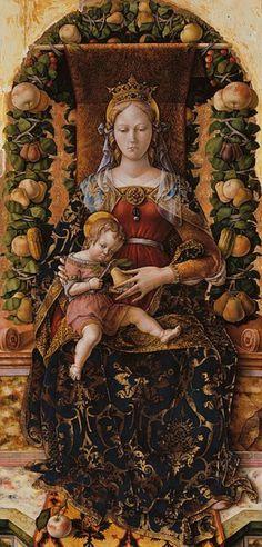 Painting by Carlo Crivelli (circa 1435–circa 1495), ca. 1490, Madonna della Candeletta.