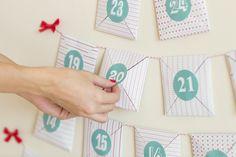 Calendario adviento Imprimible MR wonderful Countdown Calendar, Advent Calendar, Christmas Diy, Xmas, Mr Wonderful, Inspirational Gifts, Diy Projects To Try, Free Printables, Envelope