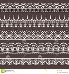 Lace ornaments, borders. Seamless pattern