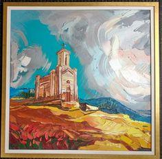 V novom dvojitom rámovani :-) Zabudnutý kostolík, olej na plátne 80 x 80 cm, www.turzak-art.sk, #kovarce #obrazynitra #turzakart Painting, Art, Craft Art, Paintings, Kunst, Gcse Art, Draw, Drawings, Art Education Resources