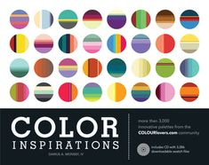 more than 3,000 innovative palettes from the COLOURlovers.com community