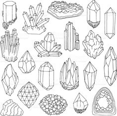 Food Plate Clipart Transparent PNG - Useful search for cliparts Bullet Journal Ideas Pages, Bullet Journal Inspiration, Crystal Illustration, Crystal Drawing, Crystal Tattoo, Book Of Shadows, Doodle Art, Wicca, Line Art