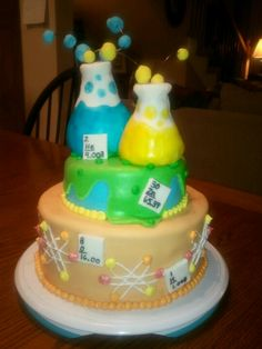 Science themed cake I made for a girls bday party.
