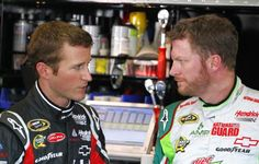 The who blinks first game, 3.5 hours and counting...  NASCAR Sprint Cup Pictures - CBSSports.com
