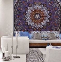 indian mandala hippie gypsy decor bohemian tapestry, home decor, dorm tapestry, psychedelic tapestry, wall hanging tapestry, wall art, queen tapestry, beach tapestry, indian quilt, double bedspread, beach blanket, coverlet, room decor, wall decor, handmade tapestry, picnic sheet, yoga mat, yogini,