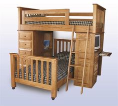 39 Best Bunk Beds Images On Pinterest Amish Furniture Solid Wood