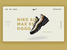 Product page concept for Nike Air Max 95 OG ui landingpage landing graphic desgin website design webdesign Air Max 95, Nike Air Max, Nike Boots, Product Page, Web Design, Graphic Design, Concept, Landing, Shoe