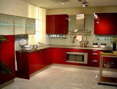 Imagem de kitchen and red