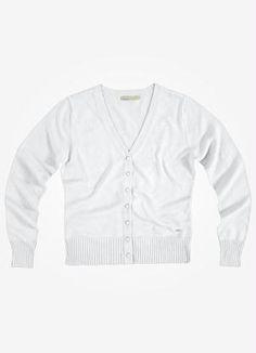 Casaco de Tricô Feminino  Branco  Malwee