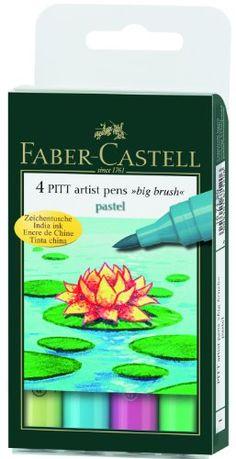 Faber-Castell Pitt Artist Pen Big Brush Set of 4 Pastel Faber Castell http://www.amazon.com/dp/B001I2AUCM/ref=cm_sw_r_pi_dp_huyZub05GWNZK