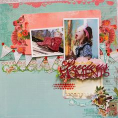 Pink Paislee Spring Jubilee and Page Maps.