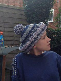 Sweet pip wearing a gift hat